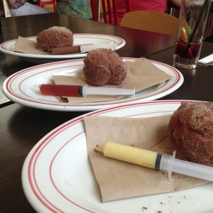 Inject-your-own donuts at Mister D in Napier.