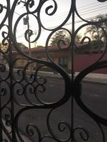 Andrés' front gate.
