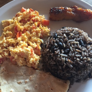 """""""Gallo Pinto"""" - the most famous local dish, typically eaten at breakfast."""