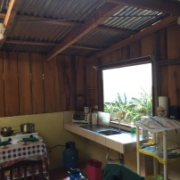 Our kitchen in the guest house - a cool tin & wood construction.