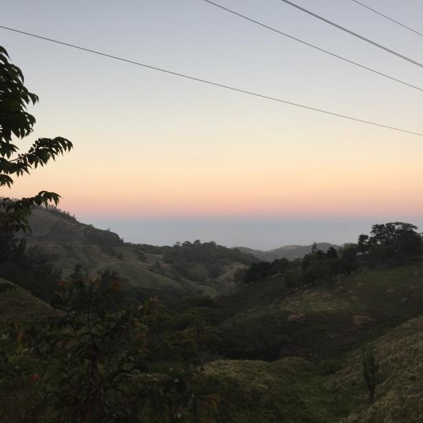 Sunset over the plantation.