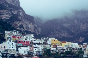 A foggy morning in Positano
